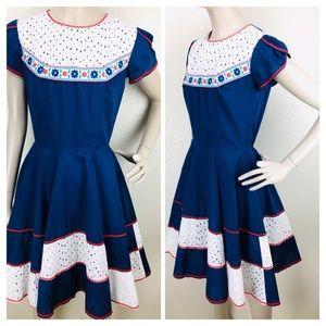 Vintage Kate Schorer Rockabilly Square Dance Dress